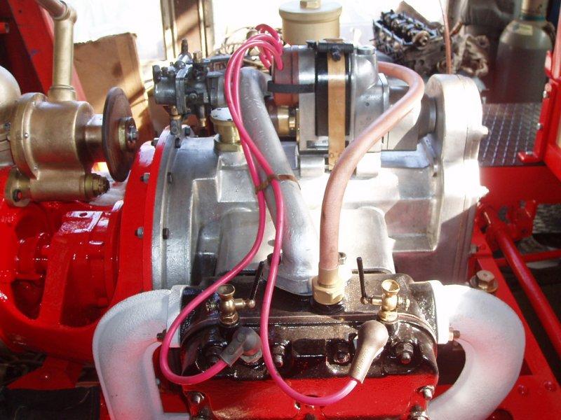 Celý motor po celkové renovaci